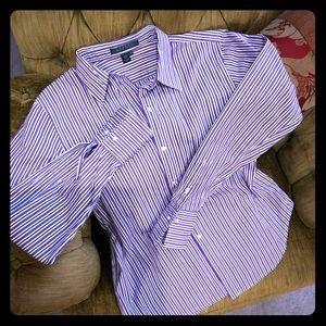 Cotton blouse / purple stripes
